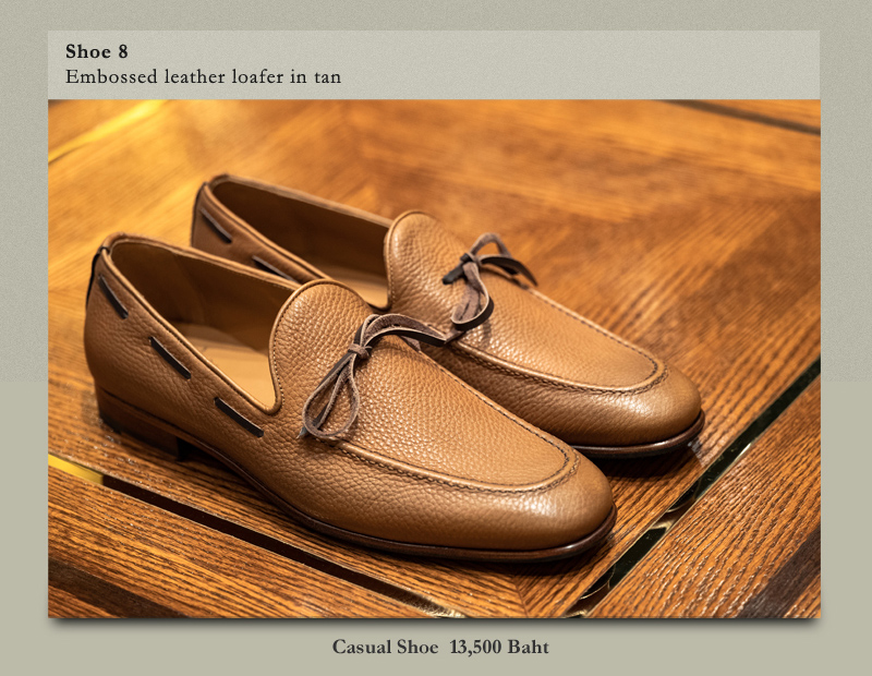 Shoe 8 Embossed leather  loafer in tan