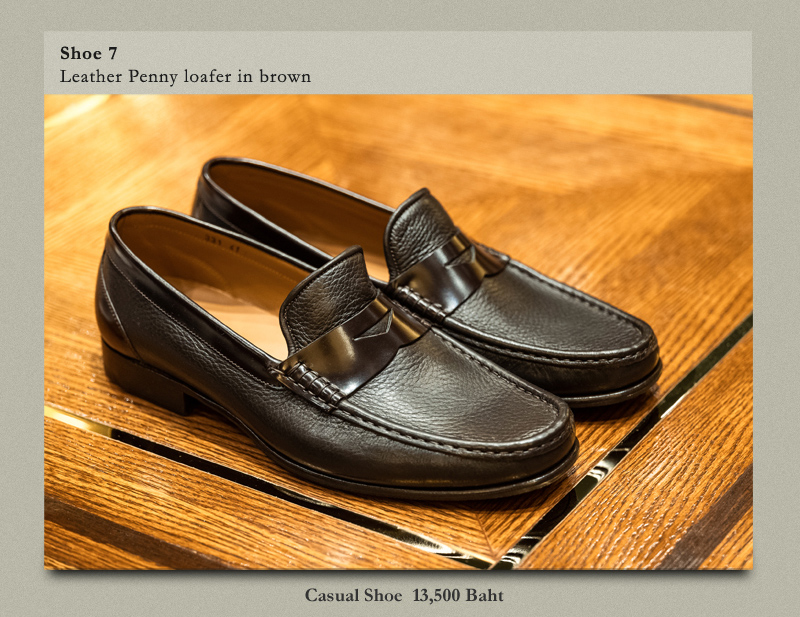 Shoe 7 Leather Penny loafer in brown