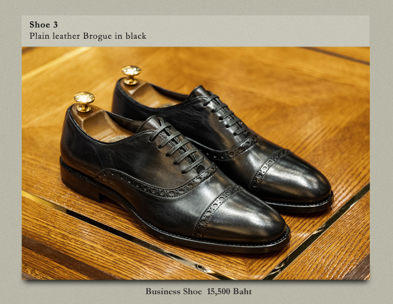 Shoe 3 Pain leather Brogue in black