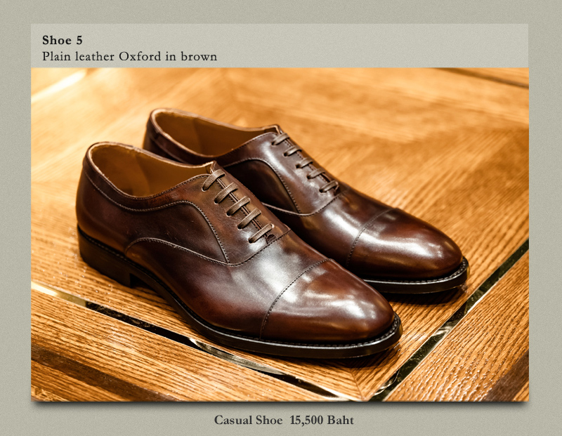 Shoe 5 Plain leather Oxford in brown