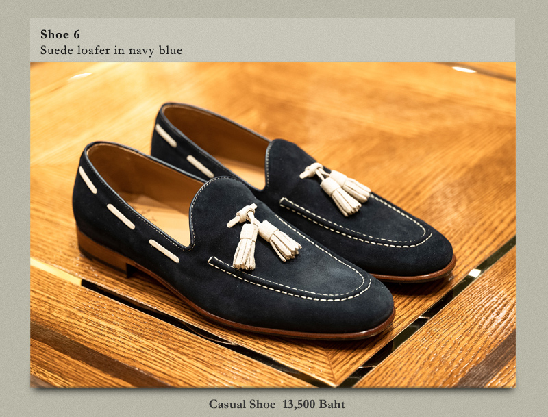 Shoe 6 Suede loafer in navy blue